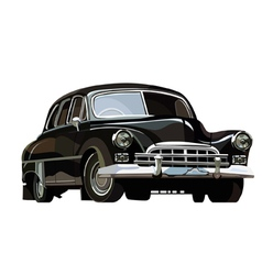 Soviet retro car black vector