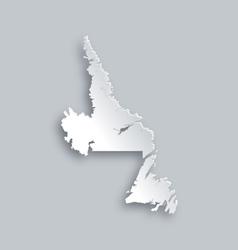 Map of newfoundland and labrador vector