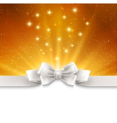 Abstract magic gold light background with white vector