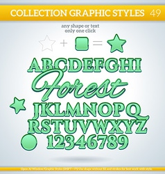 Forest graphic styles for design use for decor vector