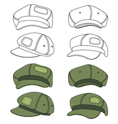 Cap band outlined template vector