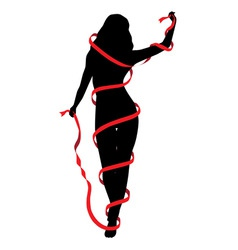 Silhouette of a girl vector