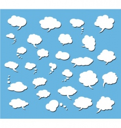 Set of comic clouds vector