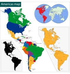 Americas map vector
