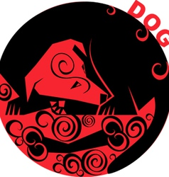 Chinese horoscope dog vector