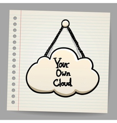 Cloud communication in doodle style vector