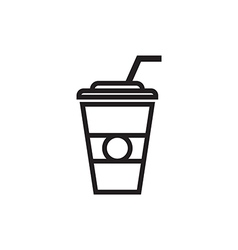 Paper coffee cup icon vector