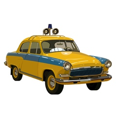 Soviet retro car yellow vector