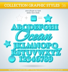 Ocean graphic styles for design use for decor text vector