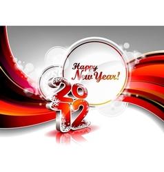 Calendar design 2012 on red wave background vector