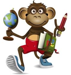 Monkey student vector