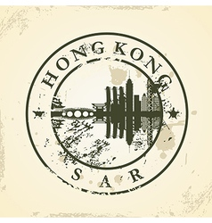 Grunge rubber stamp with hong kong sar vector
