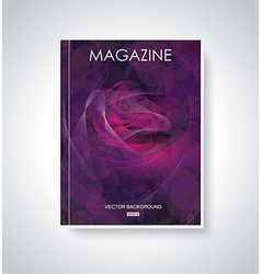 Fashion brochure flyer magazine cover vector