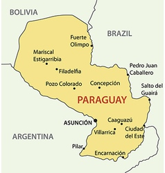 Republic of paraguay - map vector