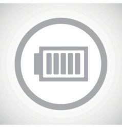Grey charged battery sign icon vector