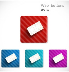 Buttons with icon of film strip vector