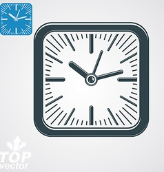 Elegant square wall clock with stylized clockwise vector
