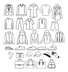 Fashion casual collection set of fashion man vector