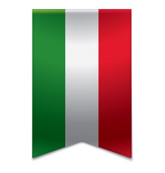 Ribbon banner - hungarian flag vector