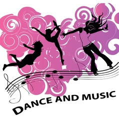 Dance and music vector