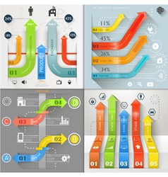 Infographic arrows business marketing vector