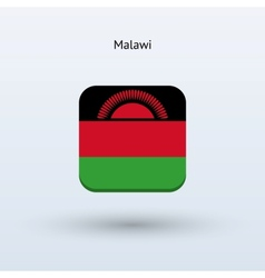 Malawi flag icon vector