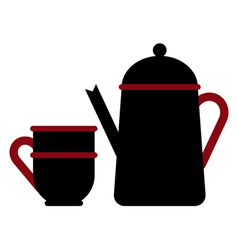 Teapot and teacup vector