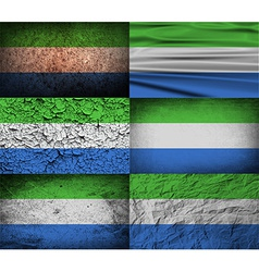 Flag of sierra leone with old texture vector