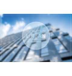 Blur business urban blue background office vector