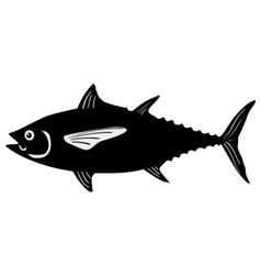 Silhouette of tuna vector