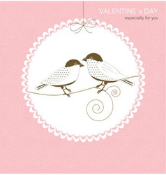 Greeting card with birds vector