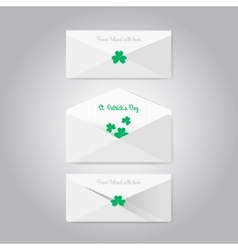 Irish envelopes in material style vector