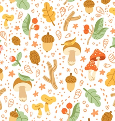 Colorful autumn treasures pattern vector