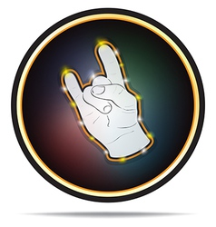 Rock hand sign vector