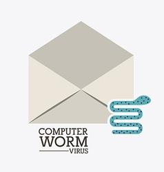 Computer worm design vector