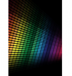 Abstract background multicolor equalizer vector