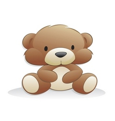 Cute cartoon teddy bear vector