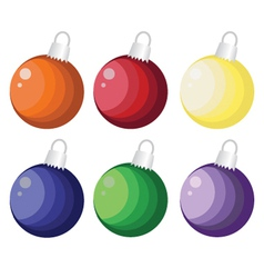 Assorted christmas balls vector
