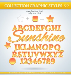 Summer graphic styles for design use for decor vector