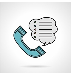 Order by phone flat color icon vector