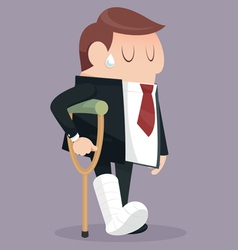 Businessman failure vector