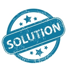 Solution round stamp vector