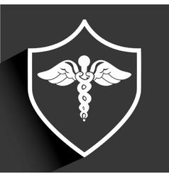Shield medical vector