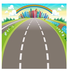 Roads to the city vector