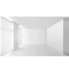Empty white interior vector