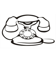 Retro telephone vector