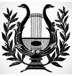 Harp ornament vector