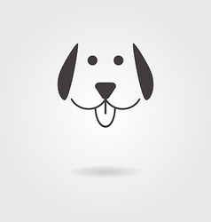 Dog icon with shadow vector