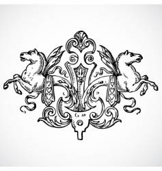 Stallion ornament vector
