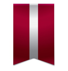 Ribbon banner - latvian flag vector
